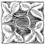 A typical piece of church foliate decoration. Not a chladni plate.