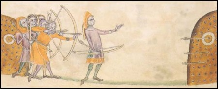 Archers, Luttrell Psalter