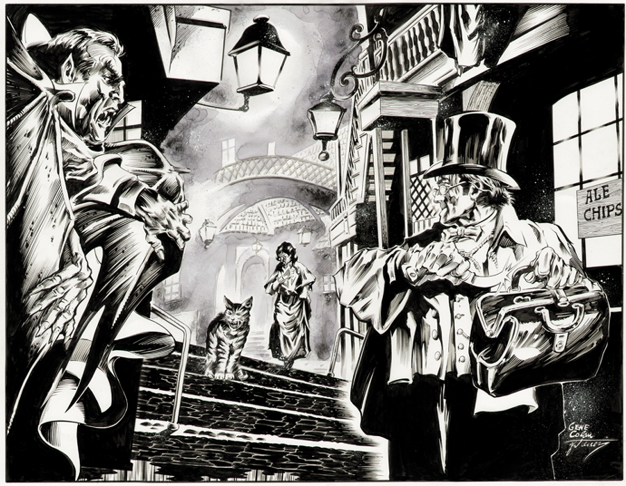 Everyone knows they actually worked together...(Dracula & Jack' by Gene Colan & Dave Gutierrez, from comicartfans.com)